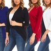 Isaac Liev Women's Cardigan (4-Pack). Plus Sizes Available.