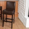 Set of 2 Lowry Brown Leather Barstools
