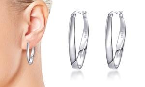 Boucles d'oreilles Créoles en argent sterling