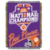 Clemson Tigers 2016 NCAA College Football Champions Tapestry Throw