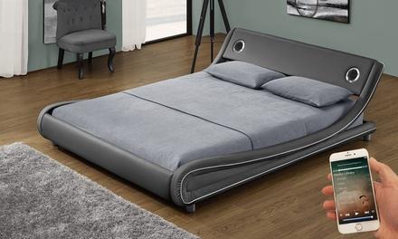 Lit Music Bed avec haut parleurs intégrés et matelas en option