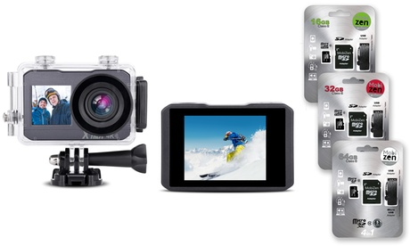 Cámara deportiva 4K Wifi / 32Gb impermeable / LCD con opción a tarjeta Micro SDHC Storex