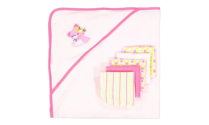 baby towel gift set groupon goods. Black Bedroom Furniture Sets. Home Design Ideas
