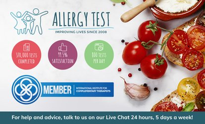 image for Food Intolerance Test: From $19 for One Person or $49 for Two People (Up to $140 Value)