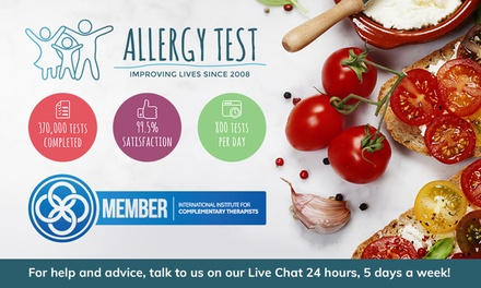 Food Intolerance Test: for One Person or $49 for Two People Up to $140 Value