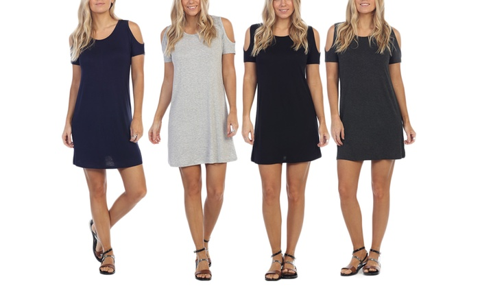 Women's Classic Shoulder Shift Dress