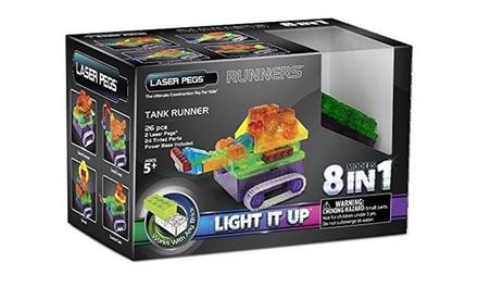 Jeu de construction briques lumineuses 8 en 1 Laser Pegs à 16,99€