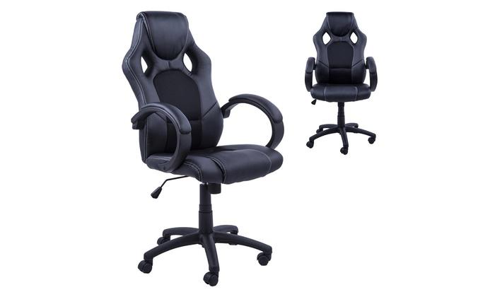 Homcom Gaming Swivel Chair Groupon