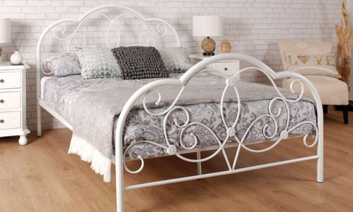 Versailles Metal Bed Frame with Optional Mattress