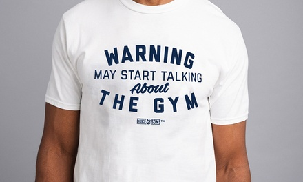 Men's Warning May Start Talking About The Gym TShirt for £7.99