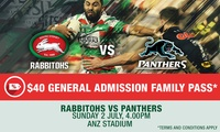 Family Ticket -  Rabbitohs v Panthers at ANZ Stadium - 2 July 2017