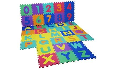 Tapis de jeux en mousse Puzzle chiffres et lettres