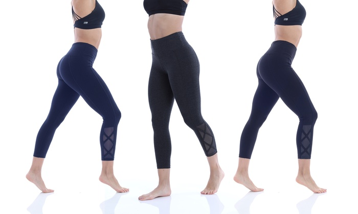 Marika Brooke High Rise Tummy Control Crossed Leggings