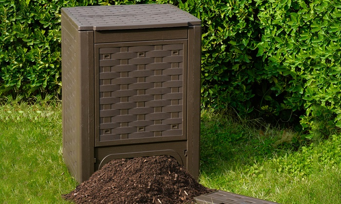 Fino a 38 su composter da 300l toomax groupon for Compostiera da giardino