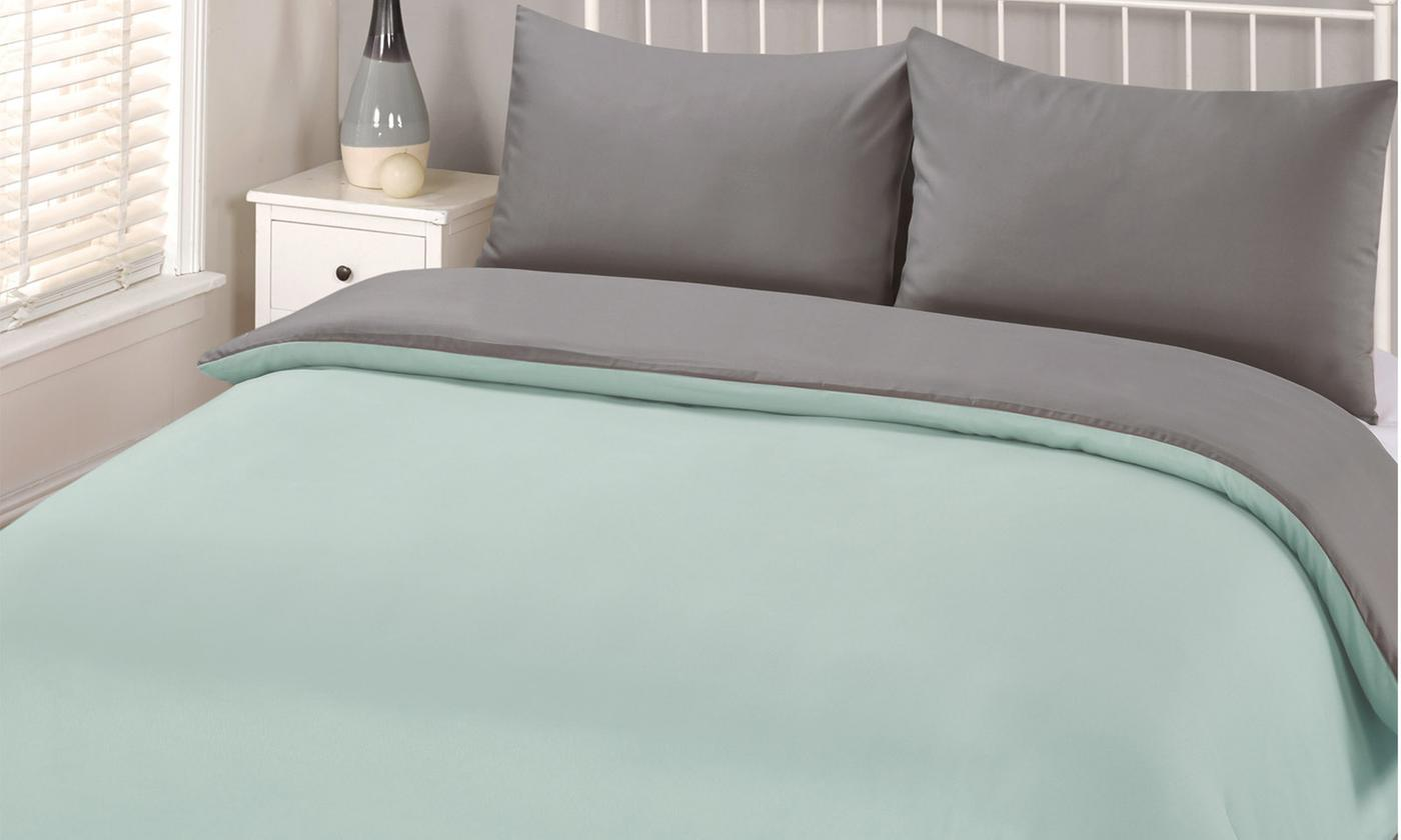 Easy Care Reversible Duvet Set for £9.98