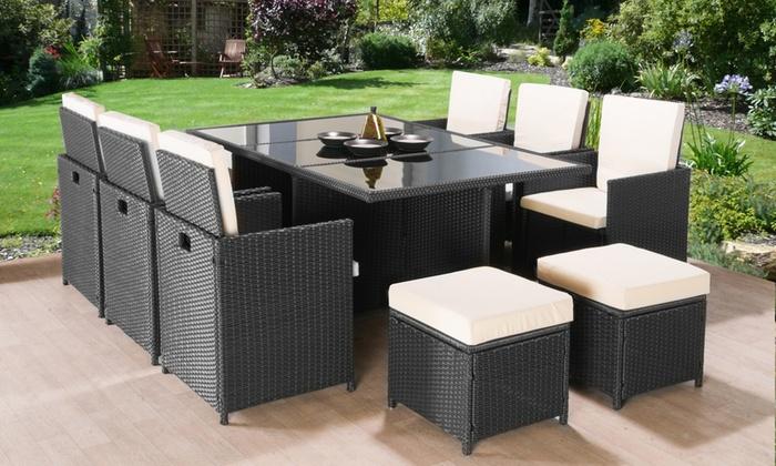 Poly Rattan Garden Furniture Set