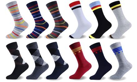 12-Pack of Mens Funky Socks