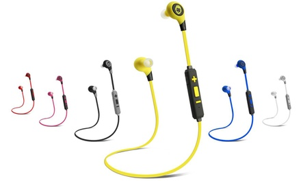 BKHC BK Sport Bluetooth Stereo Tangle-Free Earbuds with Built-in Mic
