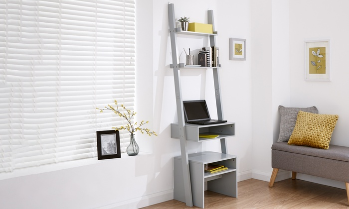 Ladder-Style Desk and Stool