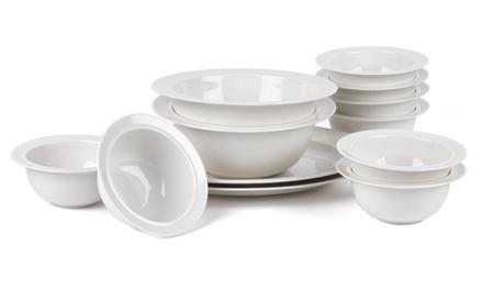 Alessi La Bella Porcelain Set with 16cm Bowls, Serving Platter...