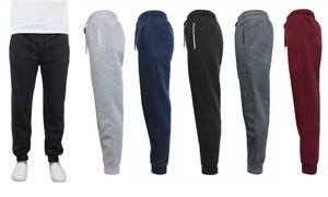 Galaxy By Harvic Men's Slim Fit Fleece Jogger Pants