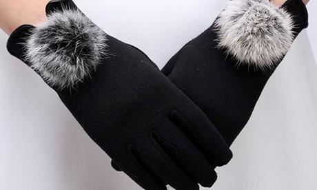 Groupon DE 1x oder 2x Handschuhe für Damen in Schwarz, Rot oder Grau