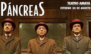 Teatro Amaya: Entrada para 'Páncreas' de Patxo Telleria el 1 de noviembre, 5 y 6 de diciembre desde 16 € en el Teatro Amaya