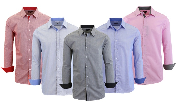 Checkered Or Pinstripe Shirts Groupon Goods