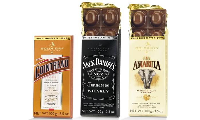 10 tablettes de chocolat Goldkenn de 100 g (soit 1 kg) à la liqueur, saveurs au choix, à 41,99€