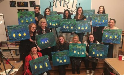 image for BYOB Painting Class for One, Two, or Four People at The Party Studio (Up to 41% Off)