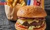 Menu burger à la française