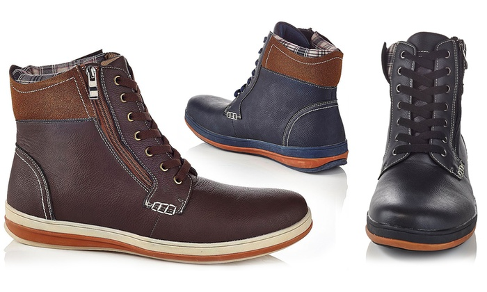 46aefae530c Up To 70% Off on Solo Men's Lace-Up Zipper Boots | Groupon Goods