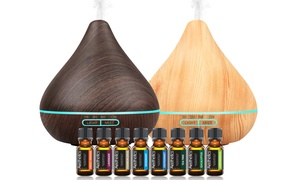 Aesthetics Ultrasonic Diffuser with Essential Oils (8-Pack)