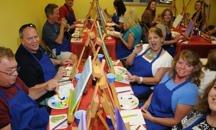Up to 40% Off Painting Class for Two, Four, or Six People at Party with Art Studio