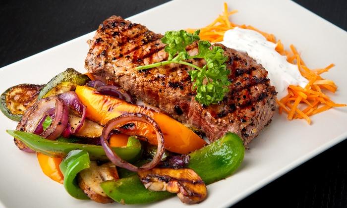 Le Mystic - Piscop: Déjeuner ou dîner buffet à volonté avec viande, garniture et café gourmand ou dessert pour 2 dès 26 € chez Le Mystic