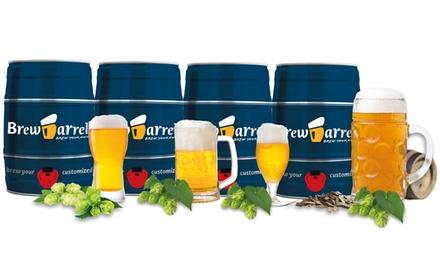 BrewBarrell Pilsner Basic, Lager Basic, Oktoberfest Premium or India Pale Ale Premium Brewing Kit