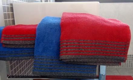 d579af4ca4 Set di 2 coppie di asciugamani da bagno disponibili in vari colori