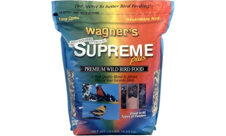 Wagner's 10 LB Supreme Plus Blend Wild Bird Food (Goods For The Home Patio & Garden Bird Feeders & Food) photo