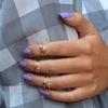 Genuine Gemstone Midi Rings in Sterling Silver