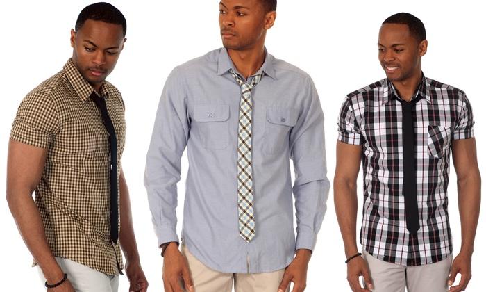 Justified Lies Men's Shirt and Tie Set: Justified Lies Men's Shirt and Tie Set