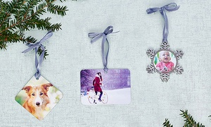 Collage.com: One or Three Custom Holiday Photo Ornaments from Collage.com (Up to 83% Off). Four Options Available.