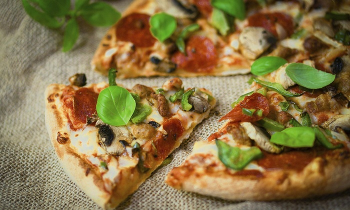 """Plazzio's Pizza - Bucktown: Free Order of Garlic Bread With the Purchase of 2 16"""" Pizzas at Plazzio's Pizza"""