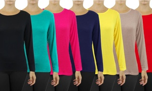 Women's Lightweight Long-Sleeve Stretch Tee (3-Pack)