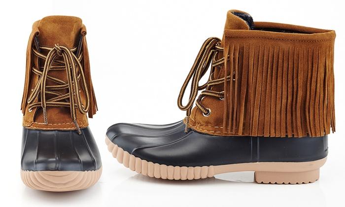 Henry Ferrera Women's Fringe-Style Duck Boots