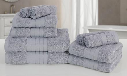 Lot de 10 serviettes en coton égyptien
