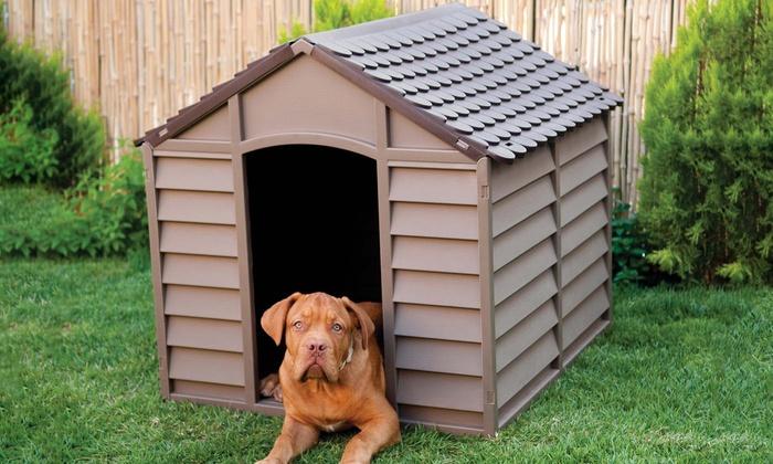 grande niche de chien starplast groupon. Black Bedroom Furniture Sets. Home Design Ideas