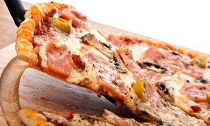 Vics: Small Four-Topping Pizza and Two Beers or Large Five-Topping Pizza and Four Beers at Vics (Up to 49% Off)