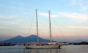 Nuovo Veliero Tortuga: Navigazione sul Veliero Tortuga con cena al chiaro di luna al Castel dell'Ovo(sconto fino a 69%)