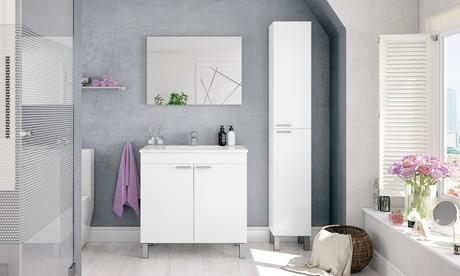 Set de armario, lavabo y espejo de baño LCD