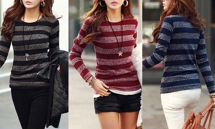 $19 for One or $29 for Two Knitted Striped Sweaters Don't Pay up to $119.90